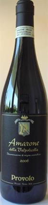 Amarone PROVOLO 75cl15% (der går 3 flasker vin for 1 flaske Amarone)